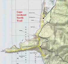 map of oregon state parks cape lookout trail oregon state parks