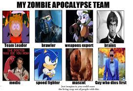 Zombie Team Meme - image 630832 my zombie apocalypse team know your meme