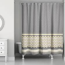Chevron Design Curtains Buy Chevron Shower Curtain Shower Curtains From Bed Bath U0026 Beyond