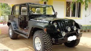 modified jeep wrangler pic a neatly modified mahindra armada team bhp