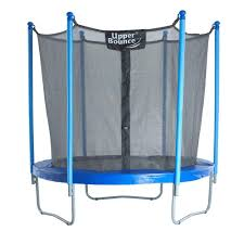 upper bounce 7 5 ft trampoline and enclosure set equipped with