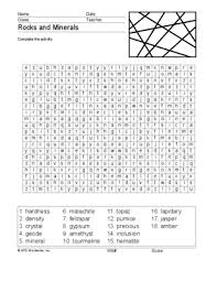 rocks and minerals word search printable