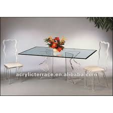 acrylic dining table with glass top acrylic dining table with