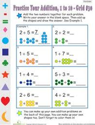 addition space math math worksheets worksheets and math