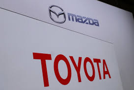mazda logos toyota mazda plan 1 6 billion us plant to partner in evs