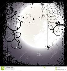 halloween background full moon and a cobweb royalty free stock