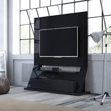 manhattan comfort intrepid black gloss storage entertainment