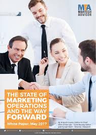 Marketing Advisor Marketing Operations 2017 Where Strategy Meets Technology