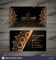 luxury golden ornament business card vector design illustration