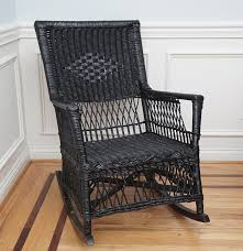 black wicker rocking chair design home u0026 interior design