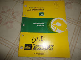john deere greenstar combine yield mapping system operators manual