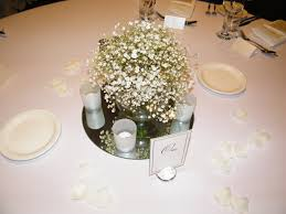 wedding flowers toowoomba 15cmd fish bowl vase with babies breath arrangement by toowoomba