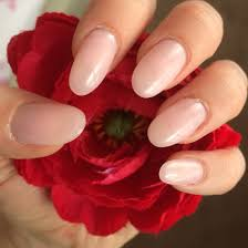 natural neutral light pink round oval gel shellac