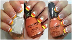 diy nail art for halloween easy candy corn nails 9 youtube