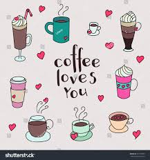 coffee cups colorful cute vector set stock vector 331279589