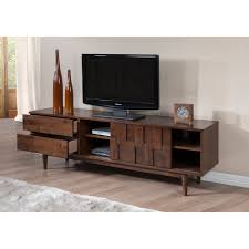 tessuto tobacco finish 70 inch entertainment center overstock