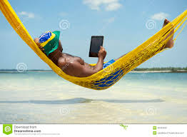 Brazillian Hammock Man In Hammock Brazilian Beach With Coconuts Stock Images Image
