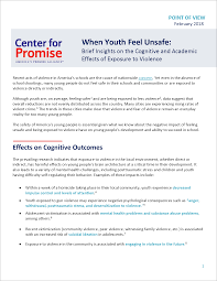 Challenge Unsafe When Youth Feel Unsafe Brief Insights On The Cognitive And