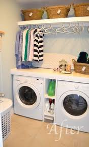 Laundry Cabinet With Hanging Rod 40 Stylish Laundry Room Ideas Laundry Rooms Laundry And Painted