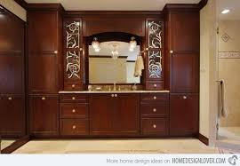 Tall Cabinet For Bathroom by Tall Cabinets On The Vanity Eliminates The Need For A Linen