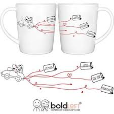 wedding gift hers boldloft tie the knot his hers wedding coffee mugs