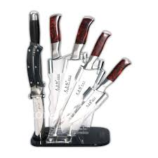 kitchen knives block set free shipping kitchen knife set 4cr13 with acrylic knife block in