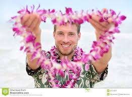Hawaii Travel Man images Hawaii caucasian man with welcome hawaiian lei stock image image jpg
