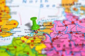 netherlands map images rotterdam netherlands map stock editorial photo bennymarty