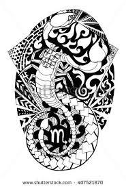 scorpio tattoo design zentangle scorpion isolated stock vector