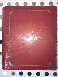 8x10 Album Red U0026 Gold Foil Creative Memories Reflections 8x10 Album 15