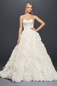 organza wedding dress truly zac posen ruffled organza wedding dress david s bridal