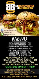 The Backyard Grill by Eats Good To Be In Cagayan De Oro Backyard Burgers Will Be In Cdo