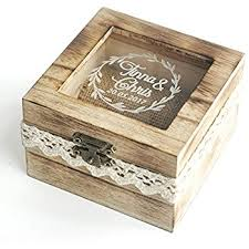 wedding box personalized wooden wedding ring box rustic wedding