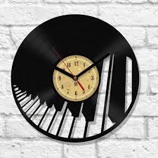 coolest wall clocks vinyl clock piano u2026 pinteres u2026