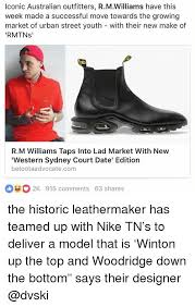 Nike Memes - iconic australian outfitters rmwilliams have this week made a