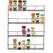 Wall Mount Spice Racks For Kitchen 4 Tier Chrome Door Wall Mounted Spice Rack Kitchen Cupboard Jar