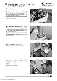 kymco people 125 150 cyclepedia printed scooter service manual ebay