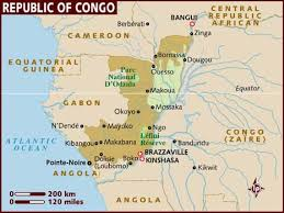map f map of republic of congo