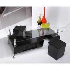 coffee tables beautiful glass coffee table with ottomans stools