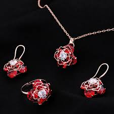 indian jewelry necklace sets images Hot sale romantic rose gold color jewellery rhinestone new luxury jpg