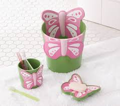 butterfly bathroom accessories pottery barn kids
