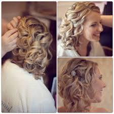 wedding hair pinterest wedding style side updo bridal up style loose curls blonde