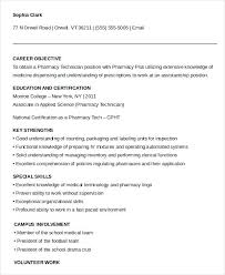 resume exles for pharmacy technician pharmacy technician resume objective sle topshoppingnetwork