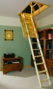 calvert folding attic stairs with handrail at top http www