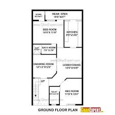 layout of house house plan for 27 by 50 plot plot size 150 square yards