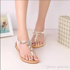 Rhinestone Flat Sandals Wedding Summer Styles Women Sandals 2015 Female Channel Rhinestone