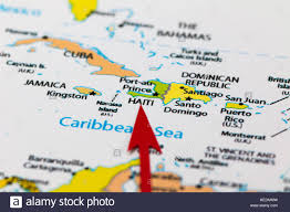 Map Of Caribbean Island by Red Arrow Pointing Haiti On The Map Of North America Continent And