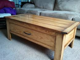 coffee table with cooler ana white coffee table with a massive drawer diy projects