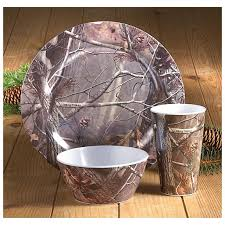 Dining Dish Set Real Tree Dishes 12 Pc Realtree Melamine Dish Set 12 Pc Realtree