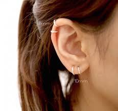 loop earrings 10mm hoop earrings set